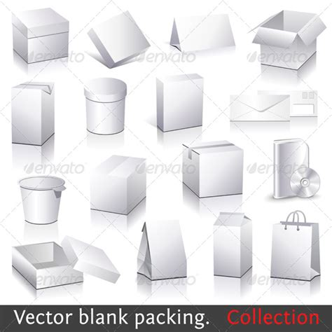 geekhall net 187 vector blank packing collection