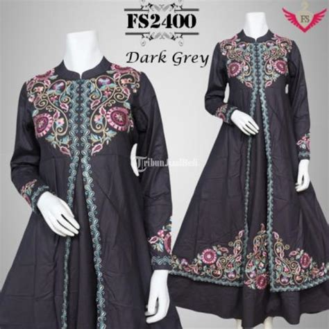 Baju Di Indah Bordir baju pesta katun azilla fs2400 ukuran s m l xl