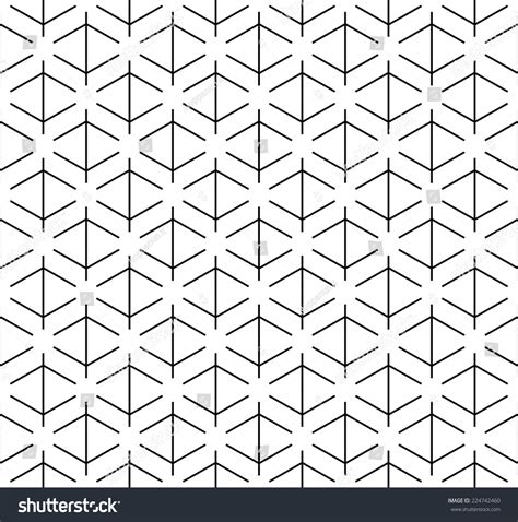 geometric line pattern vector black white geometric seamless pattern line stock vector