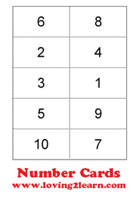 printable number cards 1 10 printable number card 1 10