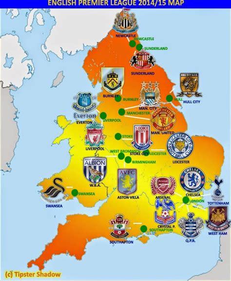 map of premier league teams world football badges news premier league 2014 15