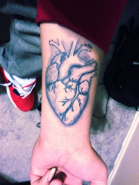 real heart tattoo black real on the tattoos