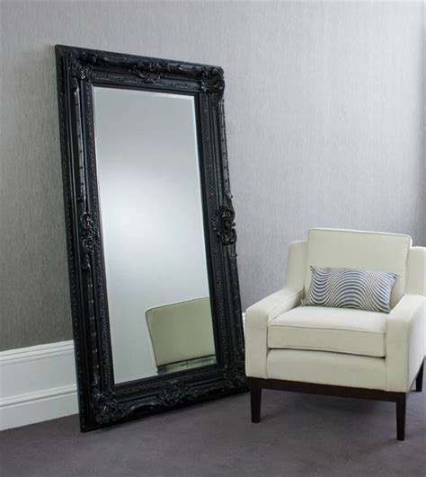 black floor mirror valois black mirror floor standing
