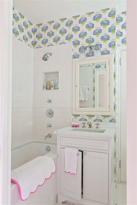 wallpaper for kids bathroom kids bathroom ideas transitional bathroom lilly bunn
