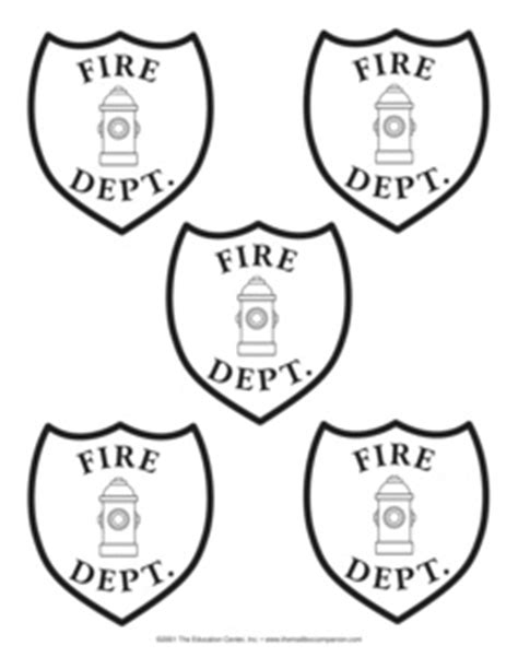 firefighter hat template preschool 14 best images of community helper worksheet social