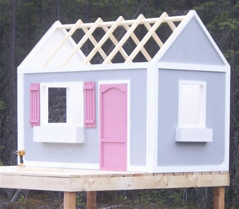 How To Build A Simple Cupola White Playhouse Roof Diy Projects