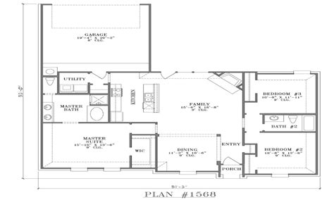 Single Story Floor Plans With Open Floor Plan by Open Ranch Floor Plans Single Story Open Floor Plans With