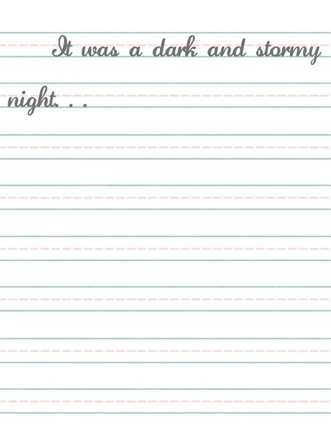 free printable elementary handwriting paper elementary lined writing paper printable elementary school