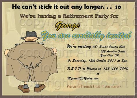 free retirement invitations templates template retirement invitation template word