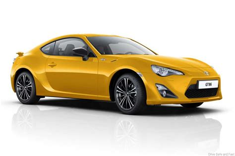 yellow toyota toyota gt86 in yellow for european edition drive safe