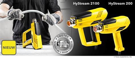 Wandlen Industriedesign nieuw heteluchtpistolen hystream 200 en hystream 2100