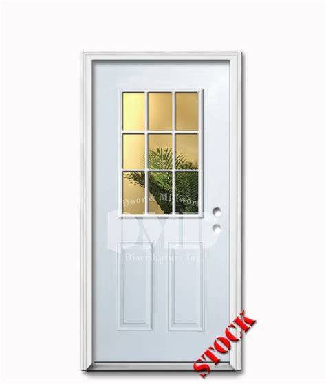 exterior steel doors with glass 9 lite half clear glass steel exterior door 6 8 door and
