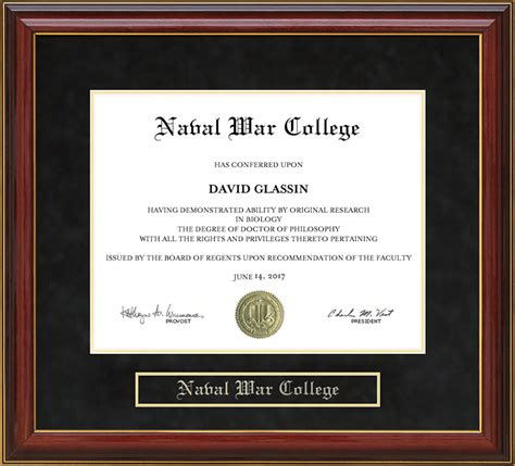 Joanie Mba Naval War College by Naval War College Nwc Mahogany Diploma Frame Wordyisms