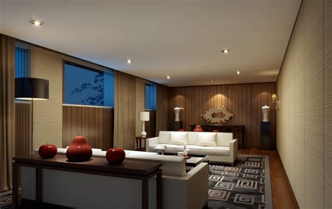 home interior lighting design house interior lighting and white sofa 3d