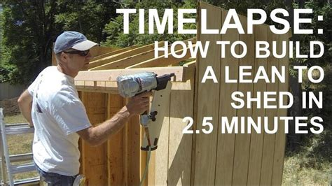 build   lean  shed   minutes  seconds