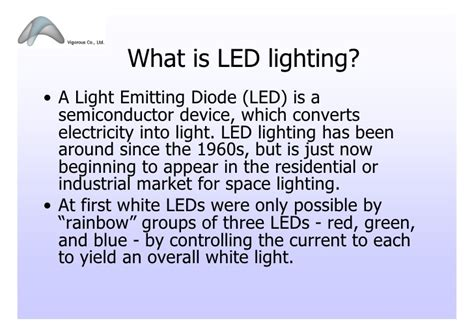 Led Lighting Presentation 102009