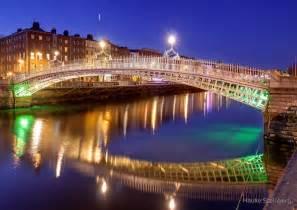 Galaxy Print Duvet Quot Ha Penny Bridge Dublin Quot By Hauke Steinberg Redbubble