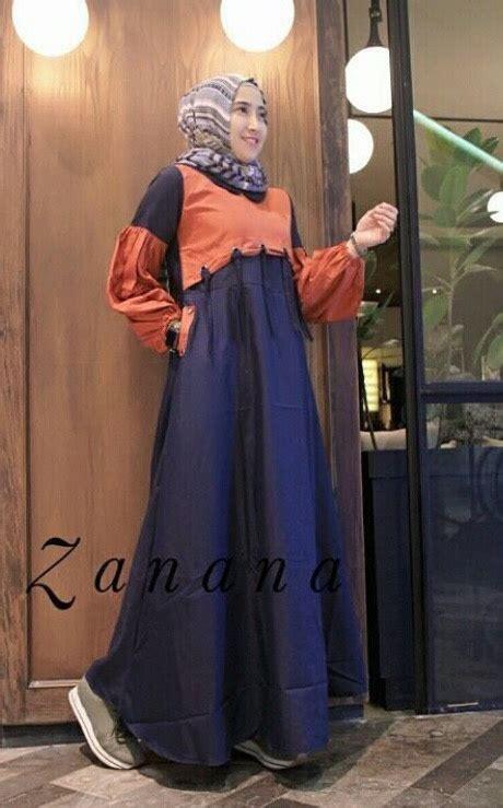 Baju Gamis Pesta Mawar Navy Set Maxi Maxy Dress gamis remaja modis zanana maxi baju muslim modern