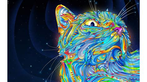 wallpaper abstract cat cool cat backgrounds 183