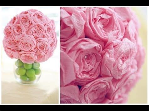 How To Make Tissue Paper Flower Balls - how to make decorative tissue paper flower balls