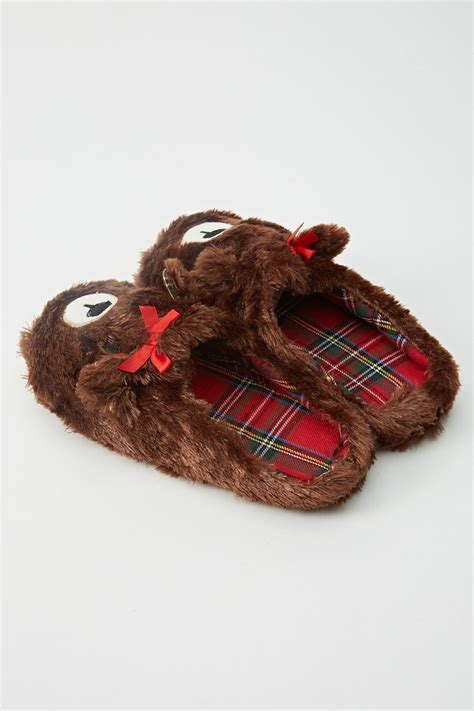 fluffy animal slippers fluffy animal brown slippers just 163 5