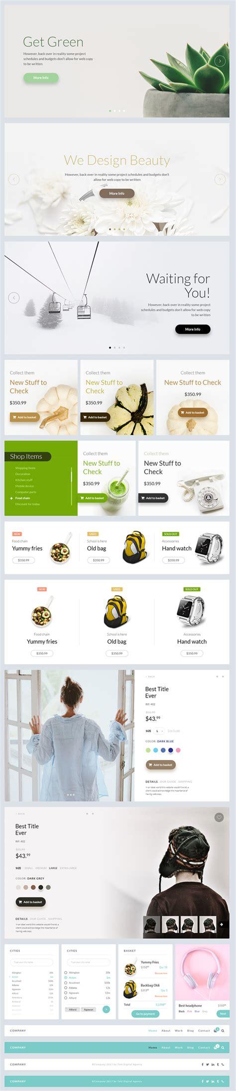 20 free and new psd ui kits 20 free modern ui design elements psd ui kits download