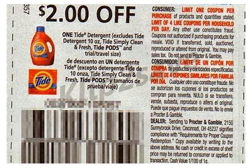 tide coupons april 2018