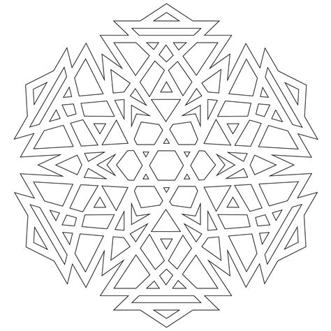 snowflake pattern to color free coloring pages of snowflake patterns