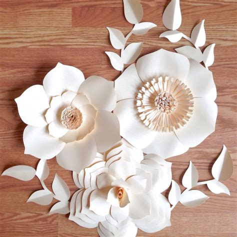 Flower With Paper For - paper flower backdrop paper flowers wedding