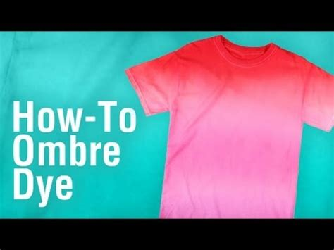 How To Dye A diy ombre tie dye technique using tulip one step dye