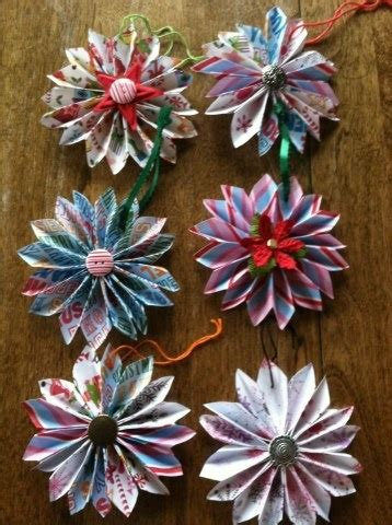 Origami Flower Ornament - flower ornaments origami and paper on