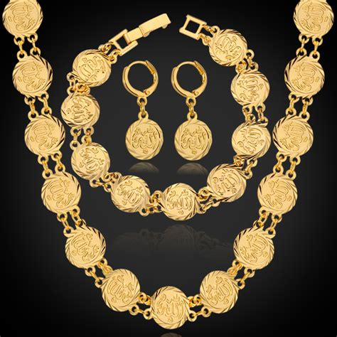 gold for jewelry allah sets necklace bracelet earrings for platinum