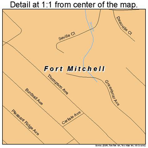 kentucky map fort fort mitchell kentucky map 2128558