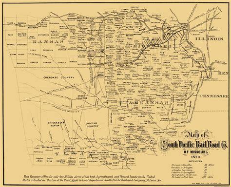 missouri pacific railroad map railroad maps missouri southern pacific railroad co