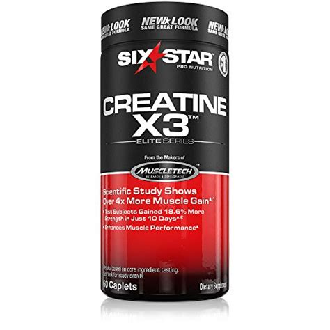 creatine x3 weight gain six creatine x3 caplets 60 count packaging may vary