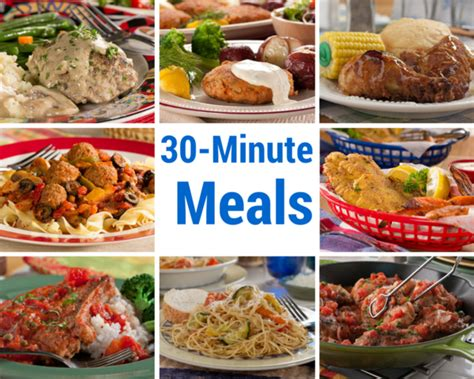 30 Minute Meals 30 recipes for 30 minute meals mrfood