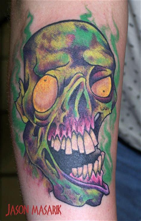 new school zombie girl tattoo zombie tattoo by jasonmas on deviantart