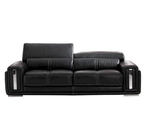 black italian leather sofa italian leather sofa in black esf2992s