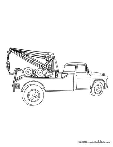 tow truck coloring page printout tow truck coloring pages hellokids com