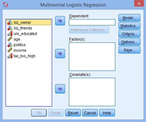 spss tutorial cox regression how to perform a multinomial logistic regression in spss