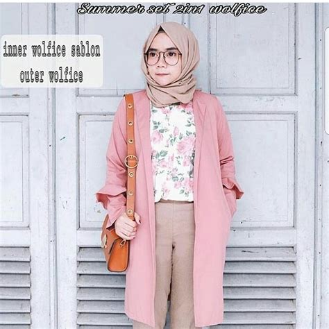 Baju Atasan Wanita Baju Muslim Roundhand Sweater model baju muslim outerwear cardigan 21 best busana