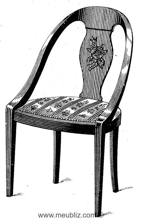 chaise gondole meuble de style