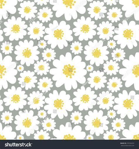 daisy background pattern vector white daisies seamless pattern on a grey background daisy