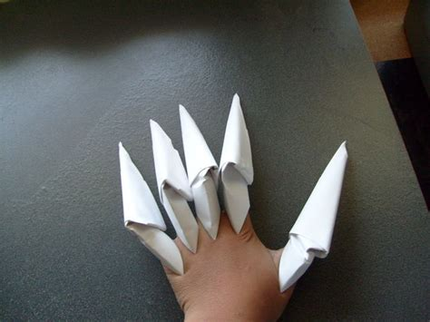 How To Make Origami Nails - how to make the easiest paper claws