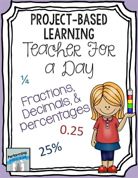 Project Based Learning Teacher For The Day Fractions