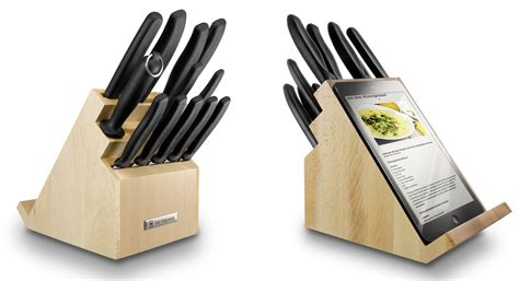kitchen knives block victorinox kitchen knives block with tablet support wood 6