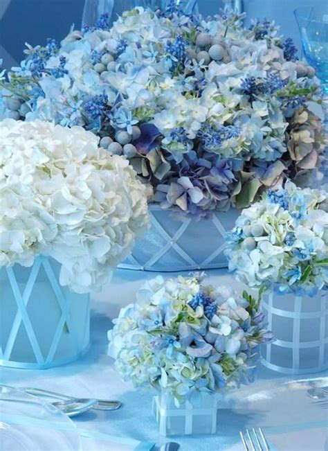 blue centerpieces shades of blue wedding centerpiece ideas crazyforus
