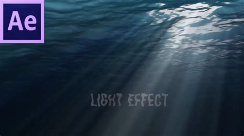 tutorial adobe after effect cs6 occean underwater sun light rays effect tutorial adobe