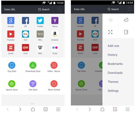 free browsers for android uc browser for android gets update inspired by android lollipop design now