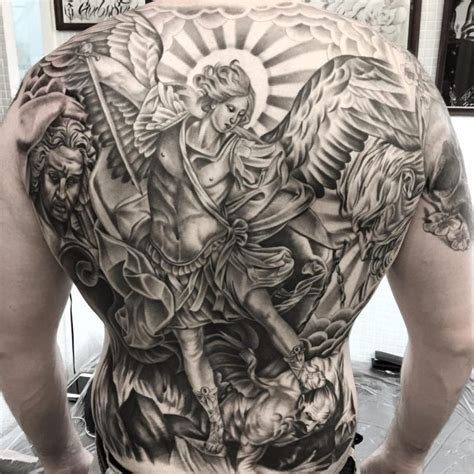 st michael chest tattoo 41 best archangel tattoos designs with meanings